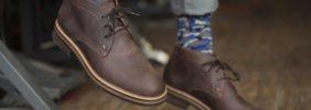 Dark Brown Desert Boots with Jeans