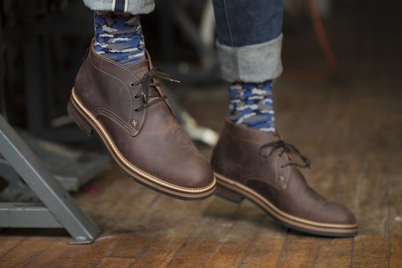 Dark Brown Desert Boots with Jeans