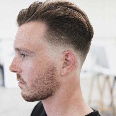 Being A Great Option For Men Getting It Done For The First Time When It  Comes To Haircuts, Low Fade Begins Just On Top Of The Ear.